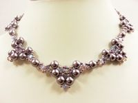 Pearl Elegance Beadwork Necklace Jewellery Making Kit with SWAROVSKI® ELEMENTS Lilac tones